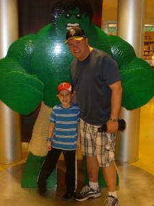 The boys and Lego Hulk