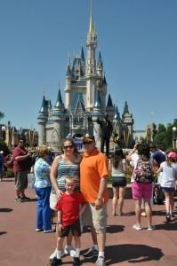 Outside Cinderella's Castle