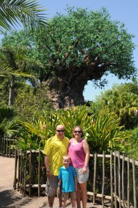 In front of the Tree of Life at Animal Kingdom