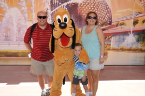 Adam was pretty happy cuz Pluto was 'the last autograph I need to get the whole Mickey Mouse Clubhouse!'