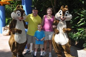 We met Chip & Dale!