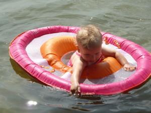 Allison LOVES this floatie!