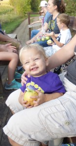 Allison had at least one apple in her hands at all times!