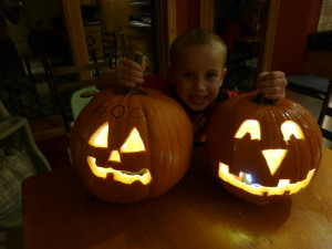 Old school style pumpkin carving