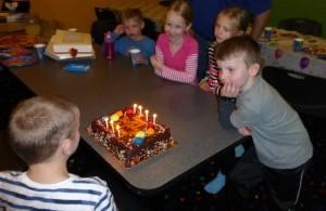 Adam's friends singing Happy birthday!