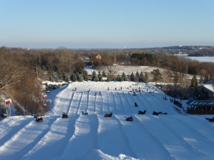 Saturday afternoon we went snow tubing at Buck Hill. The view from the top of the hill!
