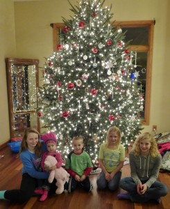 All the Tracy grand kids: Ashely, Allison, Adam, Taylor, and Lauren