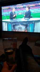 Watching the Super Bowl!