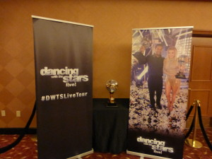 The Mirror Ball trophy was in the lobby!