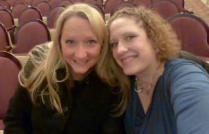 Lori and I front row!