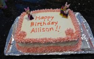 I made Allison's Minnie Mouse cake!