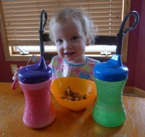 Pancakes for breakfast on her birthday morning!