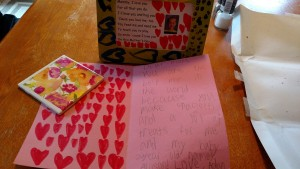 My card and gifts from Adam that he made!