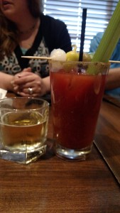 My bloody Mary with my brunch!