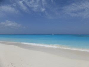 Stunning beach on Iguana Island