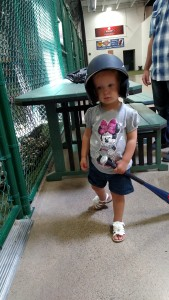 Allison ready to try out the batting cages