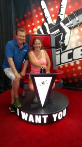 "In ""The Voice"" chair...."