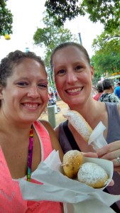 Allyson had deep fried Snickers and I had deep fried Peanut Butter Cup. So good!