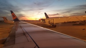 The sun was setting as we were leaving Dallas. It was beautiful!