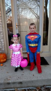 Minnie Mouse and Super Man!
