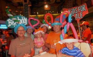 Dinner at Senor Frog's and we all got balloon hats. It was a fun night!