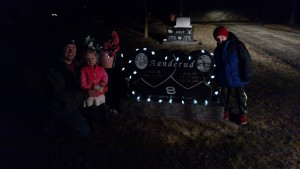 We always visit Grandpa Gary on Christmas Eve and put out some lights for him