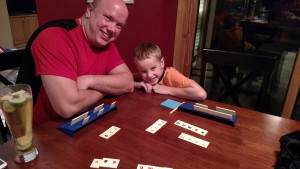 Rummikub with the boys