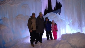 Family date night at the Ice Castles!