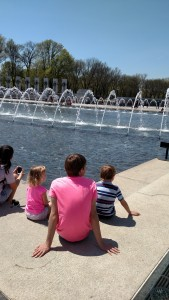 Allison, Brandon, & Adam at the World War 2 Memorial