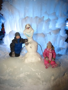 Found Olaf at the Ice Castles!