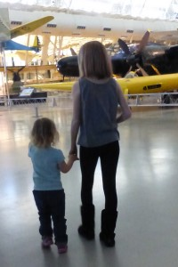 Allison and Ellie at the Air & Space Museum